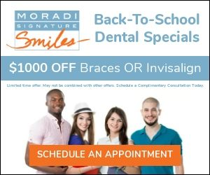 Learn about Back To School Dental Specials at Moradi Signature Smiles
